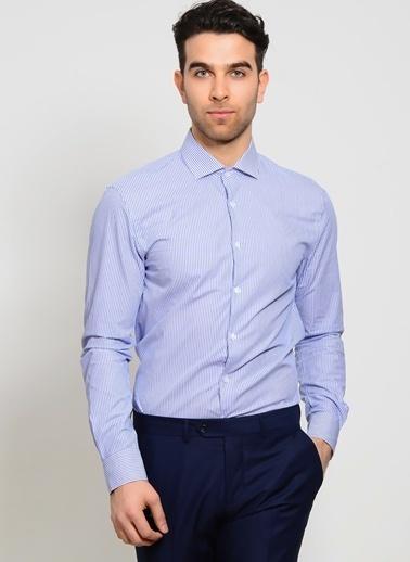 Cotton Bar Uzun Kollu Gömlek Lacivert
